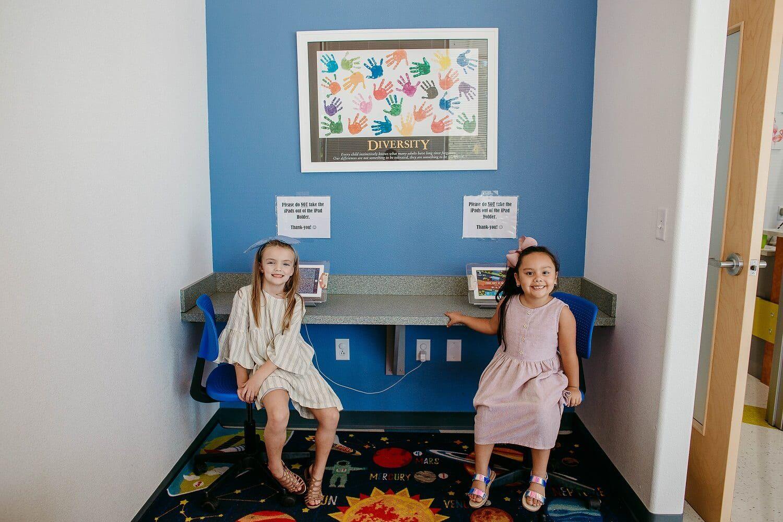 smiling kids in Kids World Pediatric Dentistry