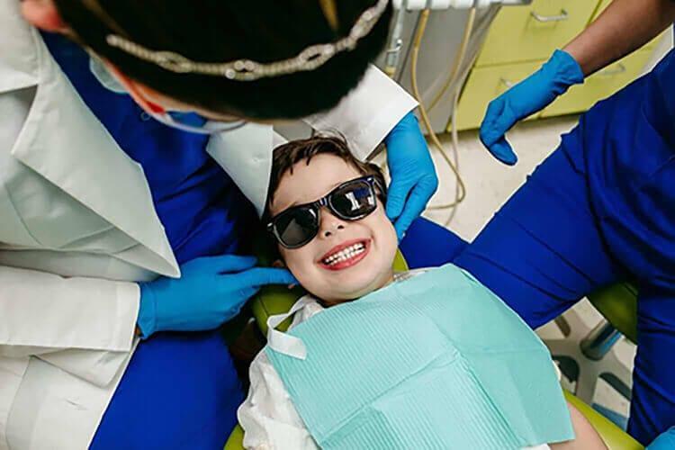 A kid having checkup